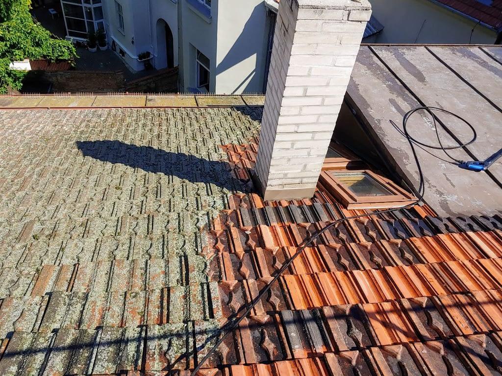Čištění střechy od mechu a lišejníků – Brno