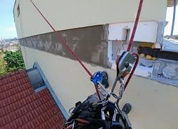 Zapravení fasády - výškové práce